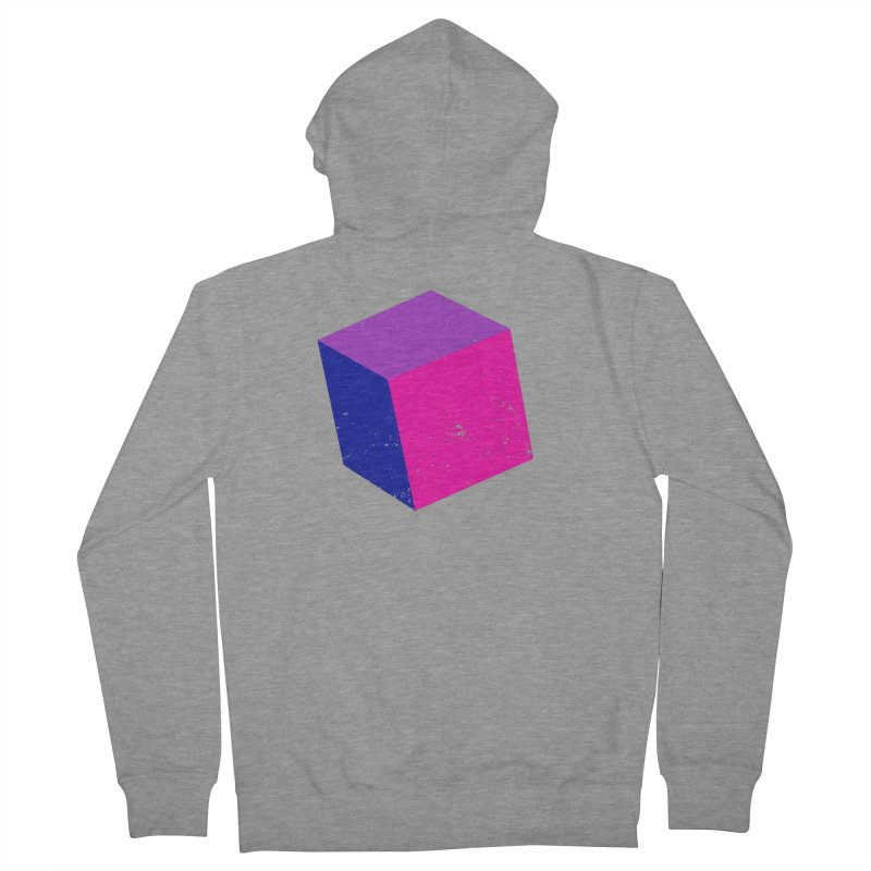Bi - cubular Men's French Terry Zip-Up Hoody by Prismheartstudio 's Artist Shop