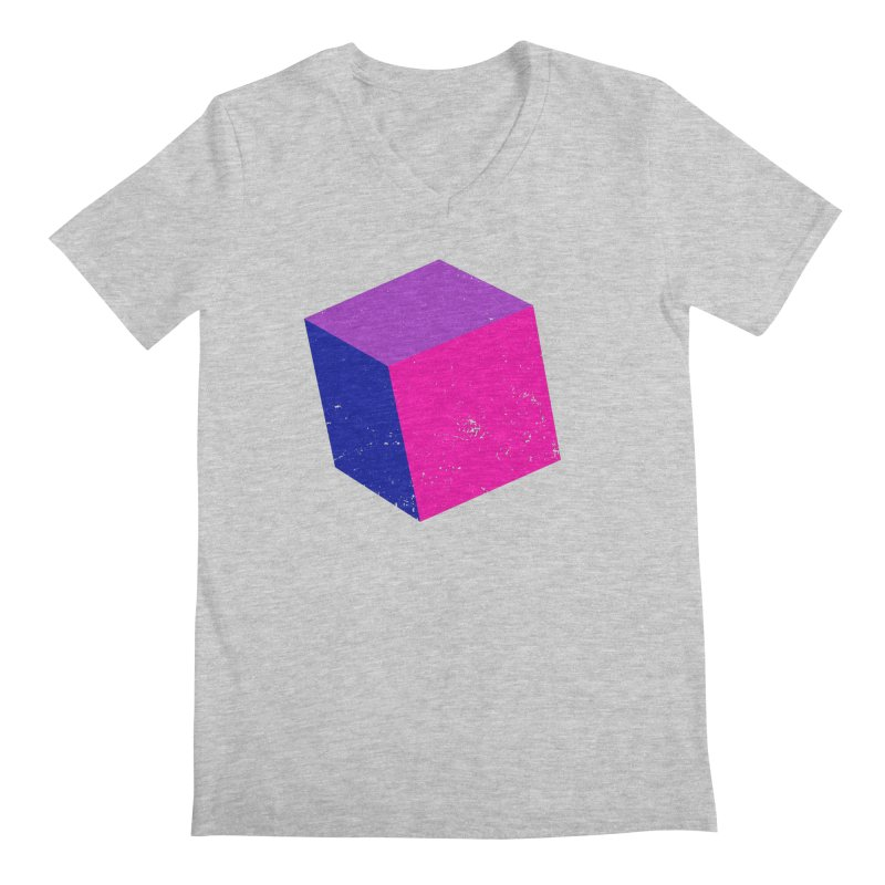 Bi - cubular Men's Regular V-Neck by Prismheartstudio 's Artist Shop