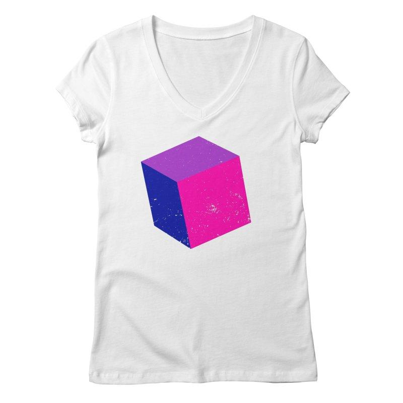Bi - cubular Women's Regular V-Neck by Prismheartstudio 's Artist Shop