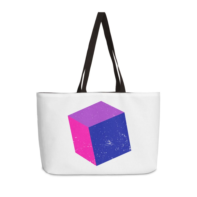 Bi - Cubular 2 Accessories Weekender Bag Bag by Prismheartstudio 's Artist Shop