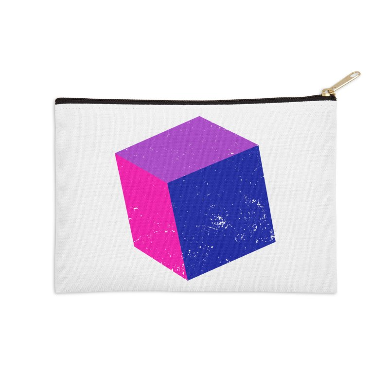 Bi - Cubular 2 Accessories Zip Pouch by Prismheartstudio 's Artist Shop