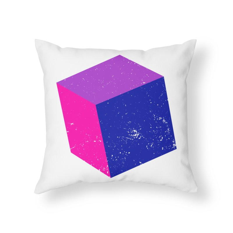 Bi - Cubular 2 Home Throw Pillow by Prismheartstudio 's Artist Shop