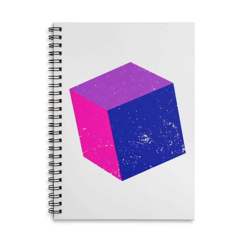 Bi - Cubular 2 Accessories Lined Spiral Notebook by Prismheartstudio 's Artist Shop
