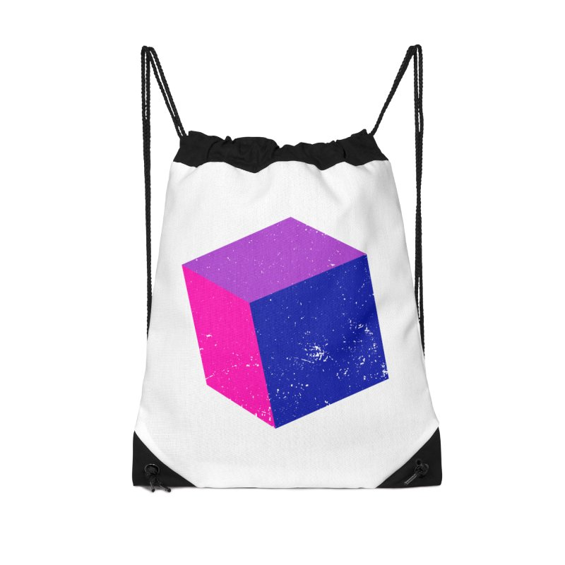 Bi - Cubular 2 Accessories Drawstring Bag Bag by Prismheartstudio 's Artist Shop