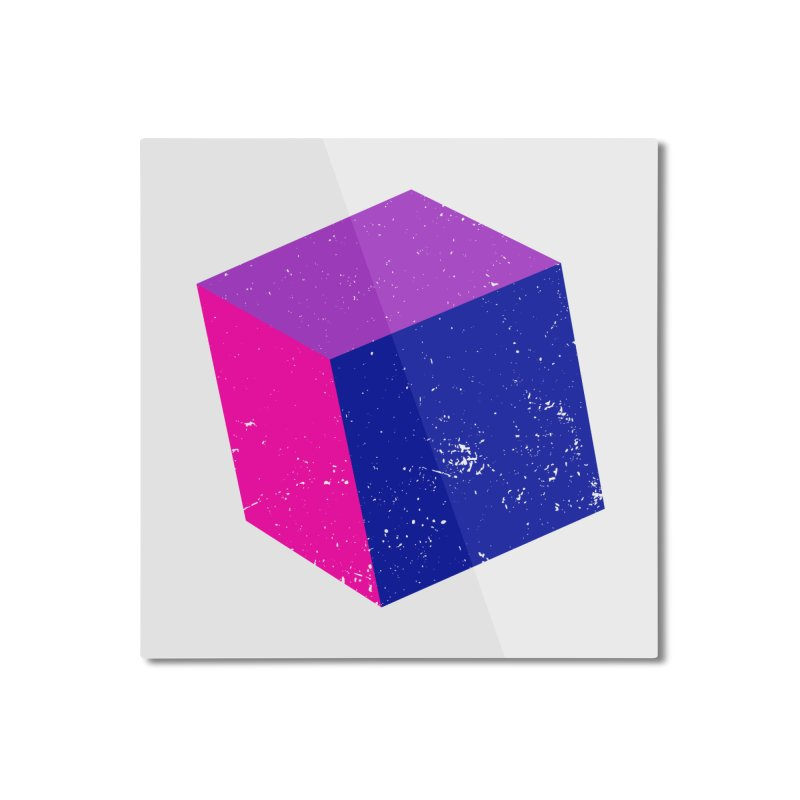 Bi - Cubular 2 Home Mounted Aluminum Print by Prismheartstudio 's Artist Shop