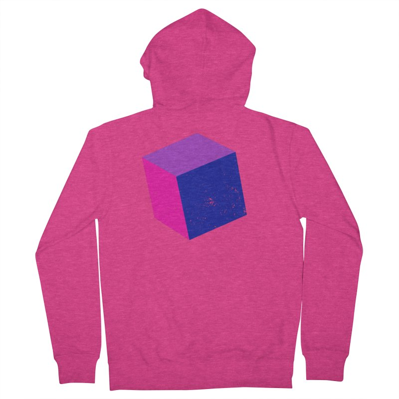 Bi - Cubular 2 Women's French Terry Zip-Up Hoody by Prismheartstudio 's Artist Shop