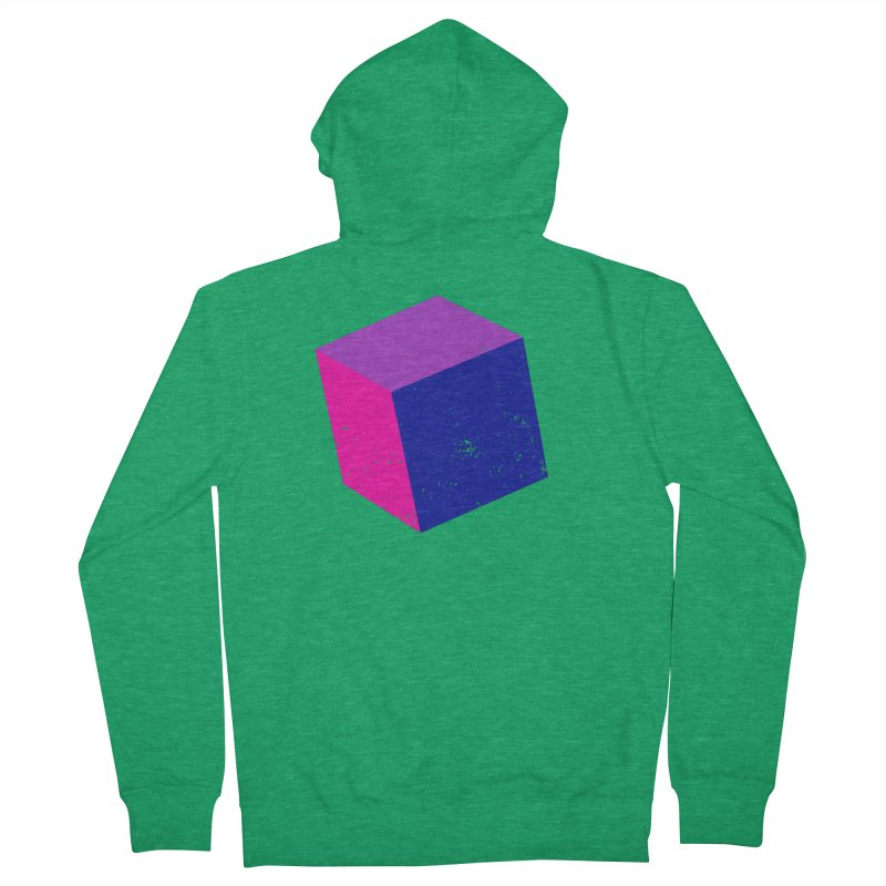 Bi - Cubular 2 Men's Zip-Up Hoody by Prismheartstudio 's Artist Shop