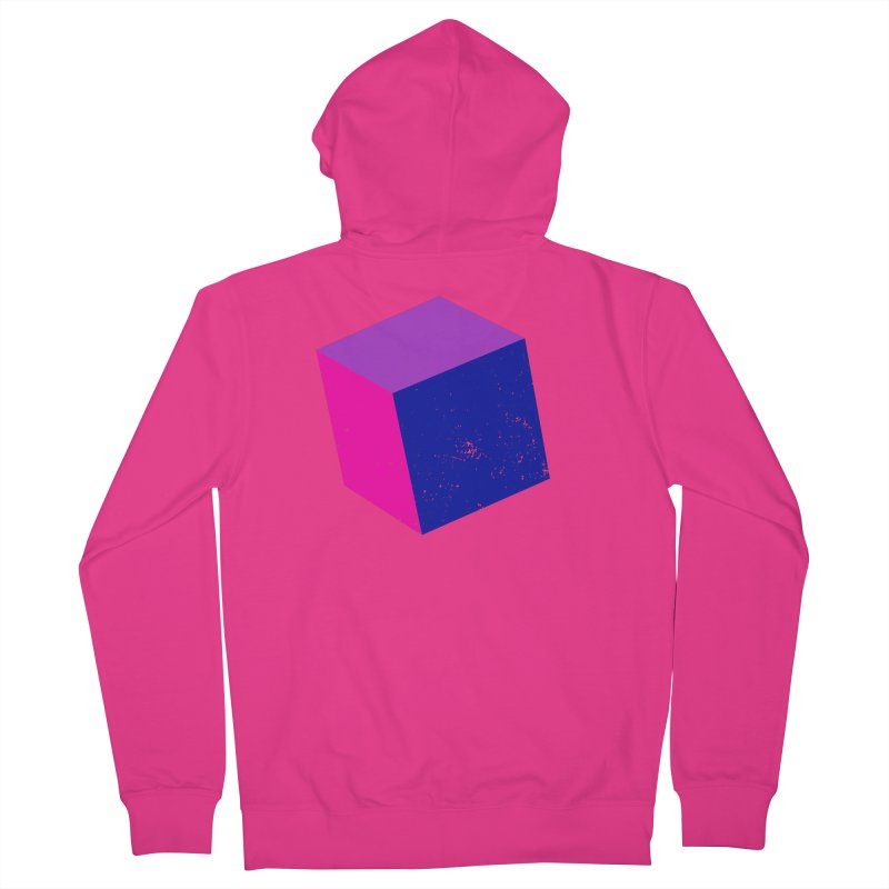 Bi - Cubular 2 Men's French Terry Zip-Up Hoody by Prismheartstudio 's Artist Shop