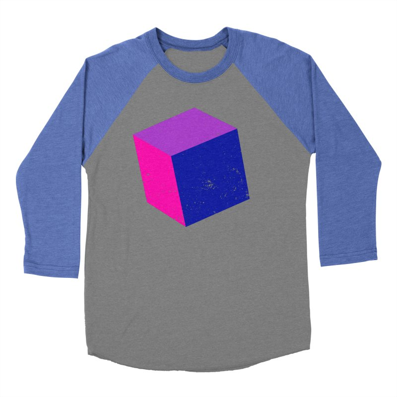 Bi - Cubular 2 Women's Baseball Triblend Longsleeve T-Shirt by Prismheartstudio 's Artist Shop