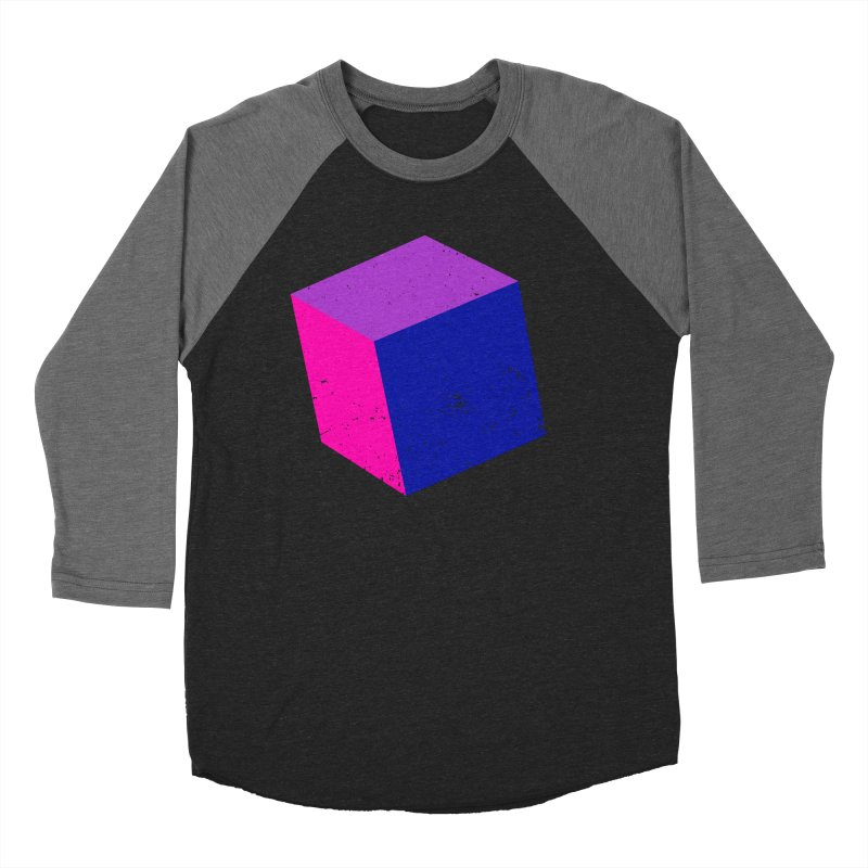 Bi - Cubular 2 Women's Baseball Triblend Longsleeve T-Shirt by Prismheartstudio 's Artist Shop
