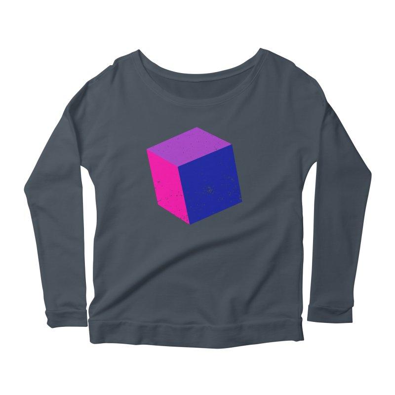 Bi - Cubular 2 Women's Scoop Neck Longsleeve T-Shirt by Prismheartstudio 's Artist Shop