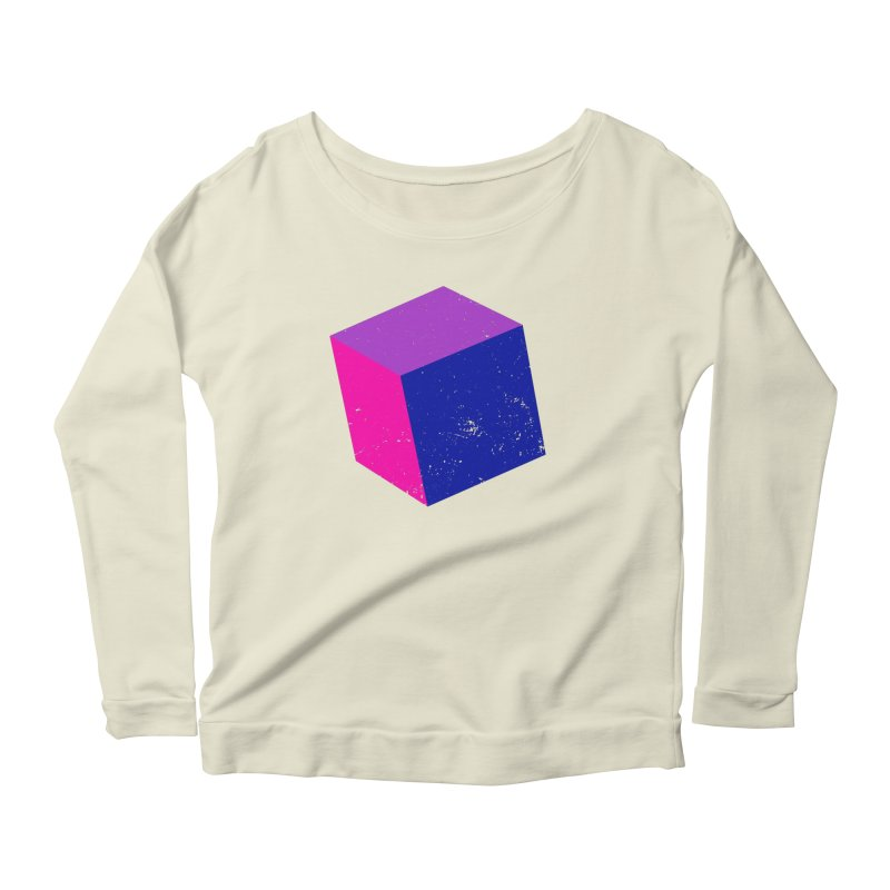 Bi - Cubular 2 Women's Scoop Neck Longsleeve T-Shirt by Prismheartstudio 's Artist Shop