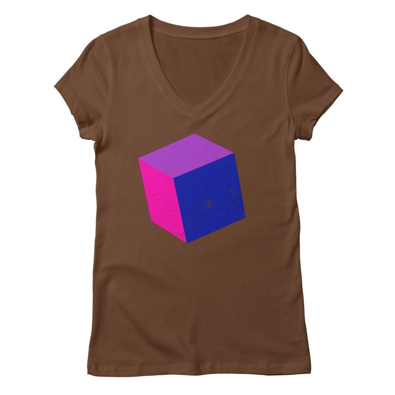Bi - Cubular 2 Women's Regular V-Neck by Prismheartstudio 's Artist Shop
