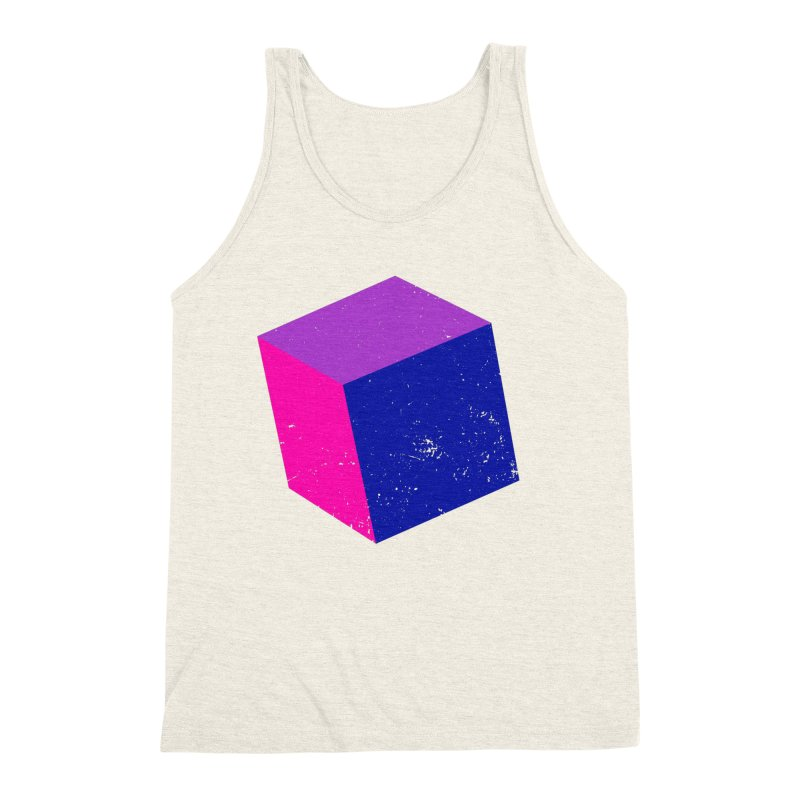 Bi - Cubular 2 Men's Triblend Tank by Prismheartstudio 's Artist Shop