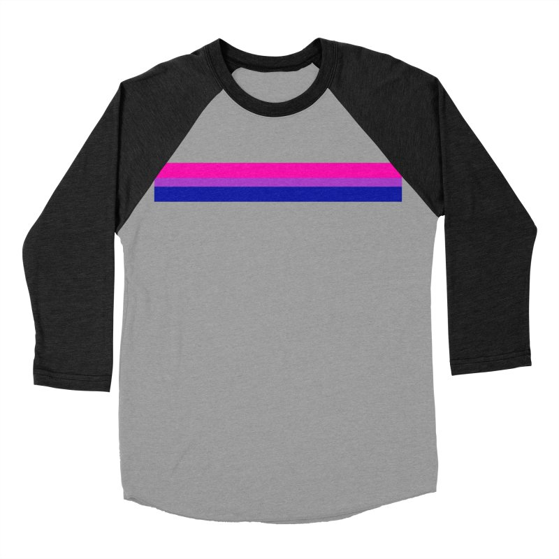 Bi Flag Bars Men's Longsleeve T-Shirt by Prismheartstudio 's Artist Shop
