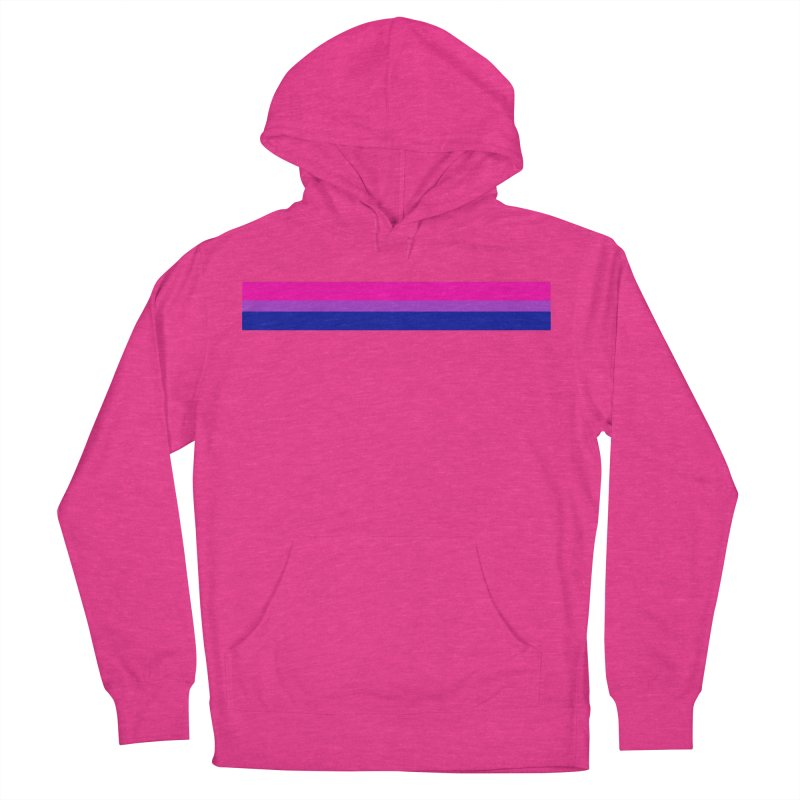 Bi Flag Bars Women's French Terry Pullover Hoody by Prismheartstudio 's Artist Shop