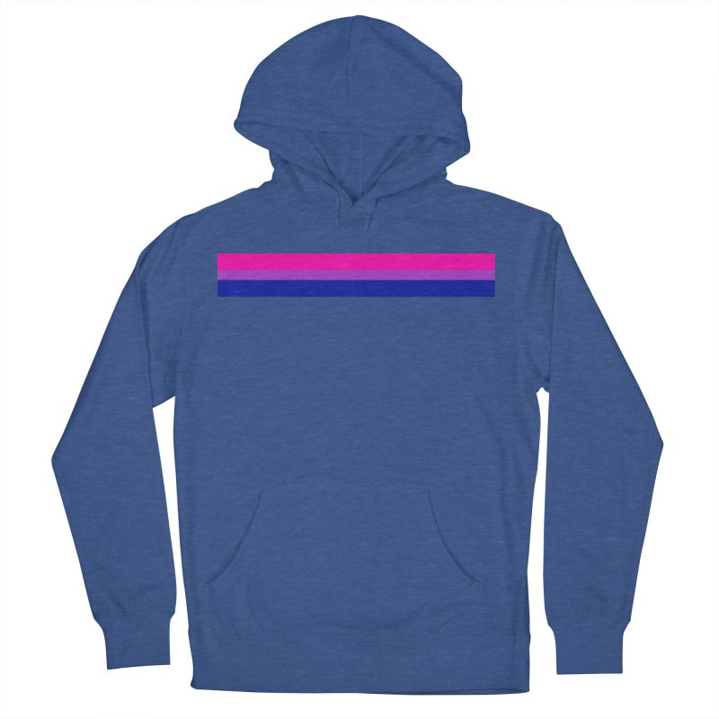 Bi Flag Bars Men's French Terry Pullover Hoody by Prismheartstudio 's Artist Shop