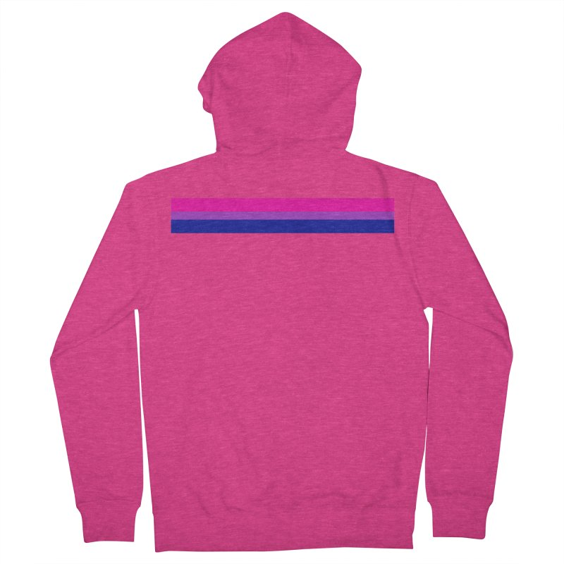 Bi Flag Bars Women's French Terry Zip-Up Hoody by Prismheartstudio 's Artist Shop