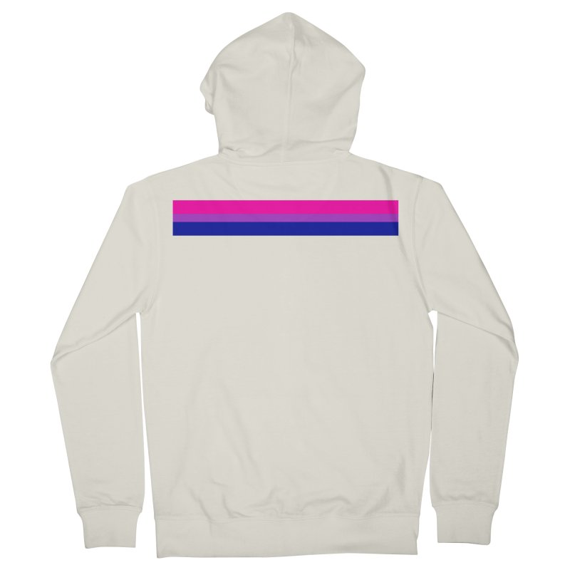 Bi Flag Bars Men's French Terry Zip-Up Hoody by Prismheartstudio 's Artist Shop