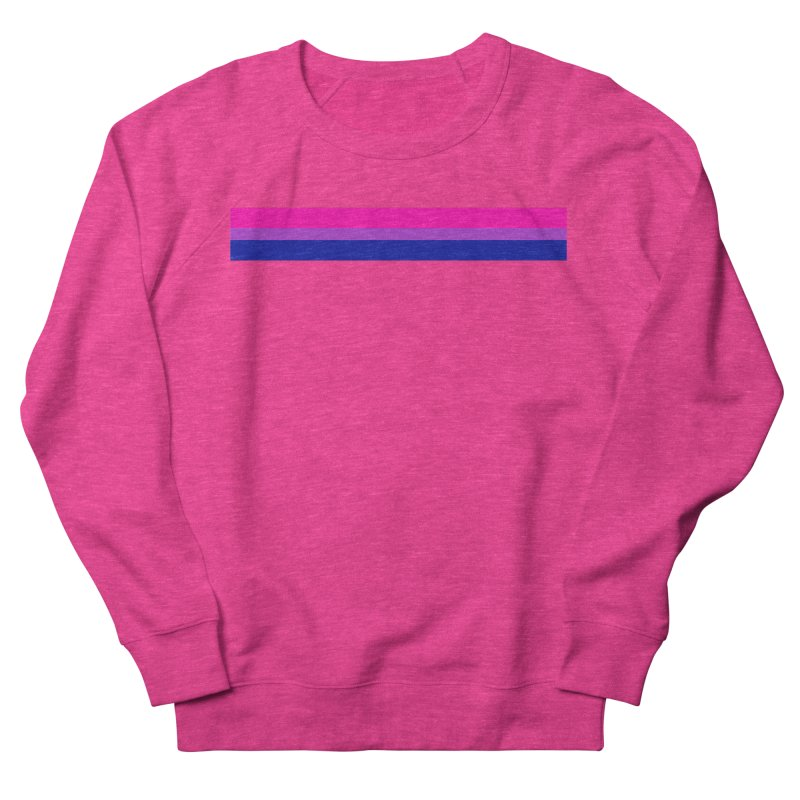 Bi Flag Bars Men's French Terry Sweatshirt by Prismheartstudio 's Artist Shop