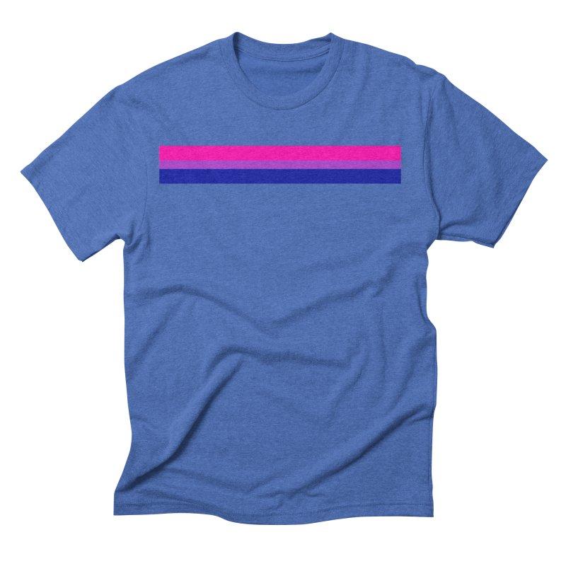 Bi Flag Bars Men's Triblend T-Shirt by Prismheartstudio 's Artist Shop