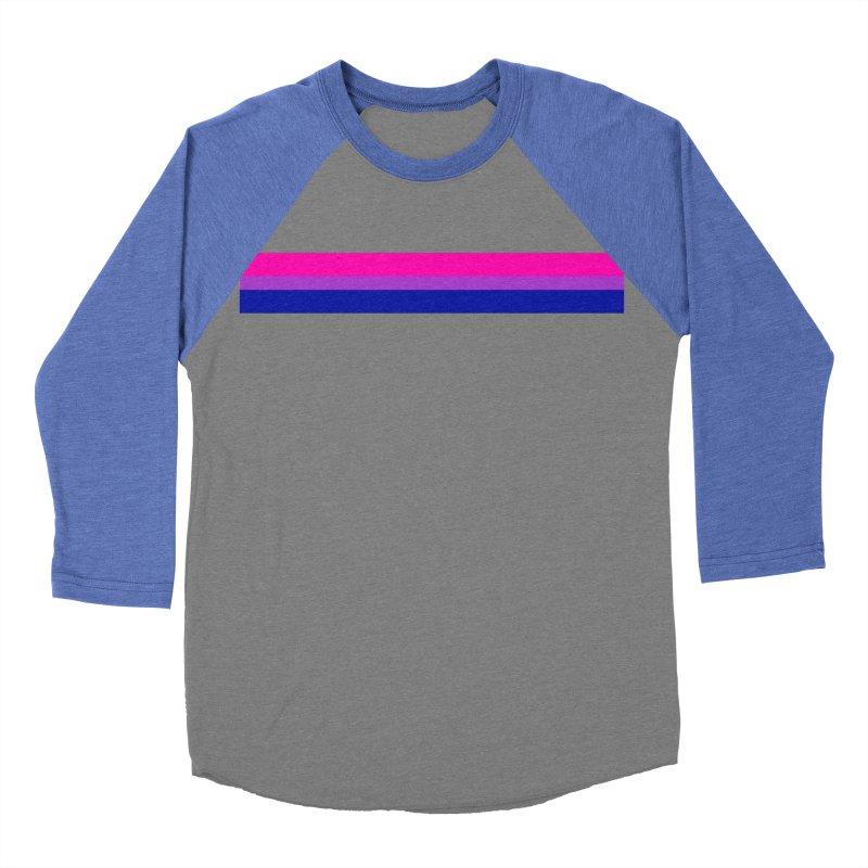 Bi Flag Bars Women's Baseball Triblend Longsleeve T-Shirt by Prismheartstudio 's Artist Shop