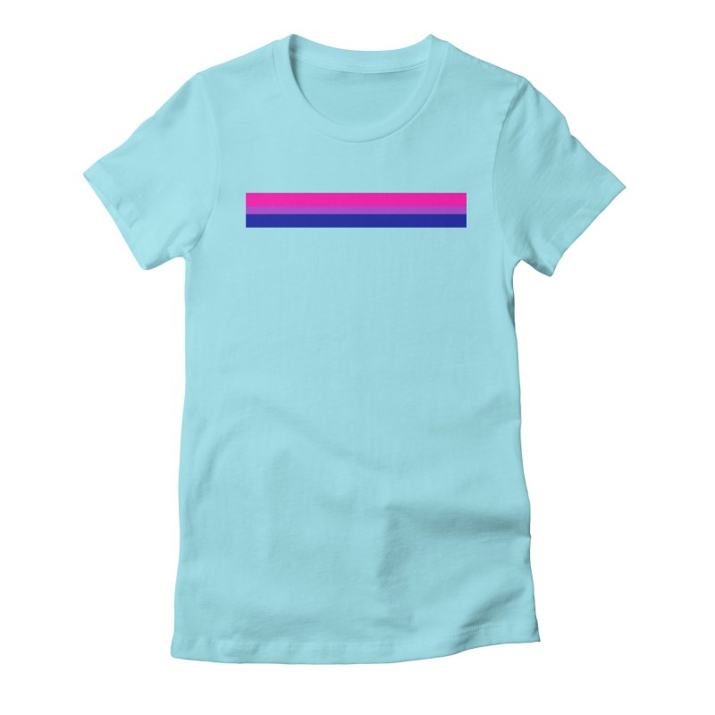 Bi Flag Bars Women's Fitted T-Shirt by Prismheartstudio 's Artist Shop