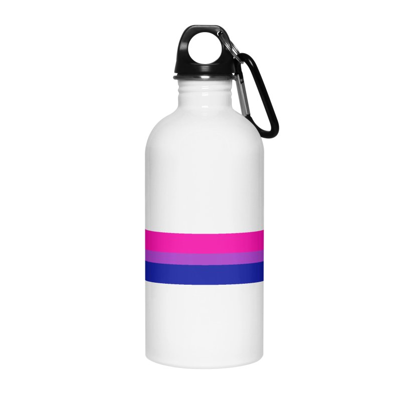 Bi Flag Bars Accessories Water Bottle by Prismheartstudio 's Artist Shop