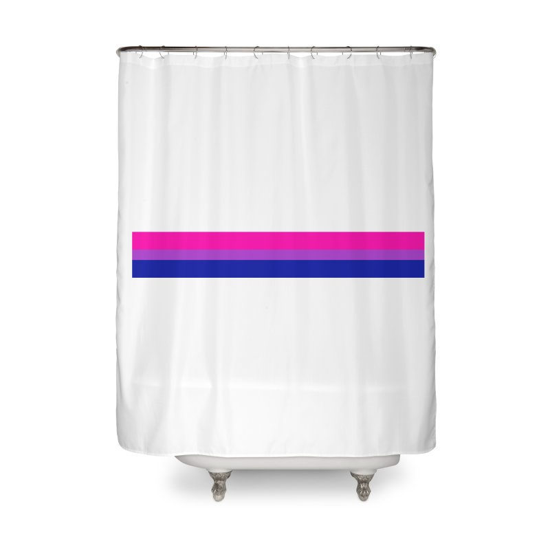 Bi Flag Bars Home Shower Curtain by Prismheartstudio 's Artist Shop