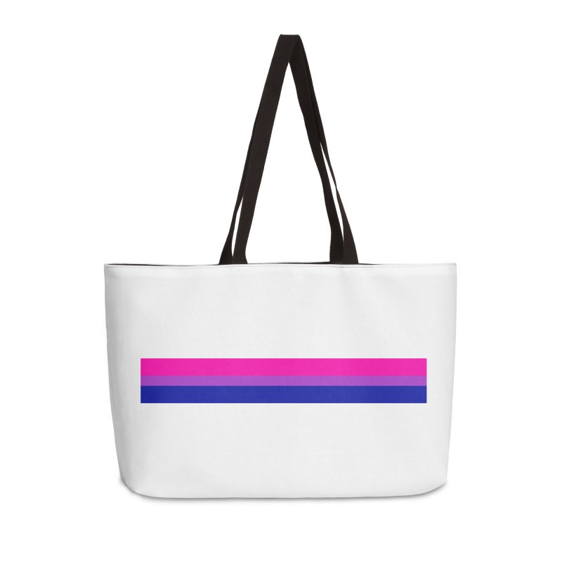 Bi Flag Bars Accessories Weekender Bag Bag by Prismheartstudio 's Artist Shop