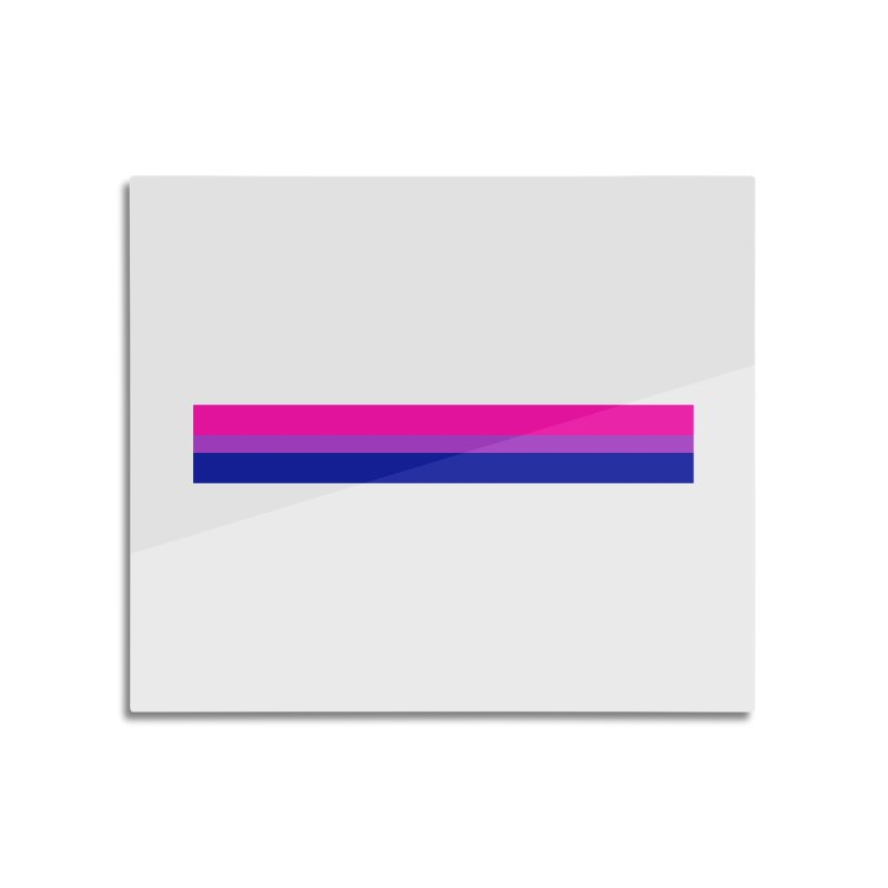 Bi Flag Bars Home Mounted Aluminum Print by Prismheartstudio 's Artist Shop