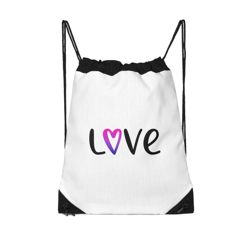Love + Heart Accessories Drawstring Bag Bag by Prismheartstudio 's Artist Shop