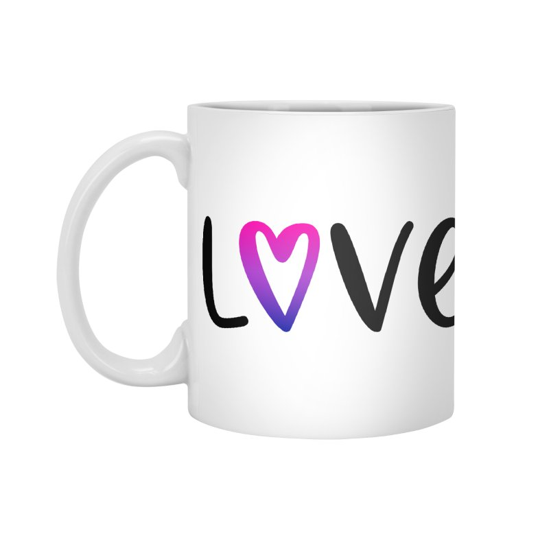 Love + Heart Accessories Mug by Prismheartstudio 's Artist Shop