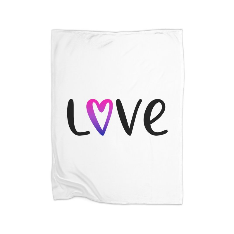 Love + Heart Home Blanket by Prismheartstudio 's Artist Shop