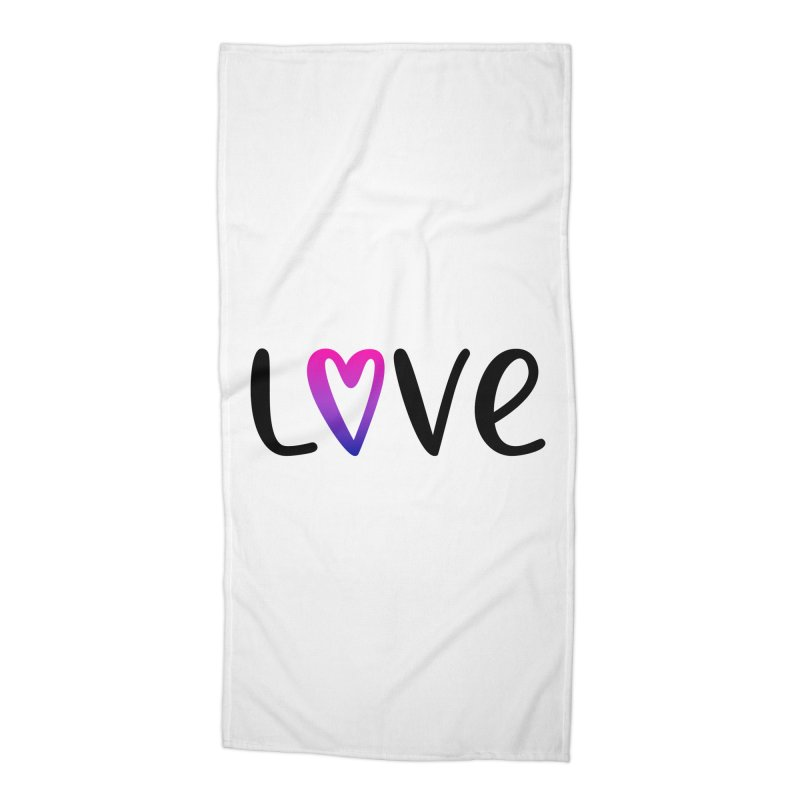 Love + Heart Accessories Beach Towel by Prismheartstudio 's Artist Shop