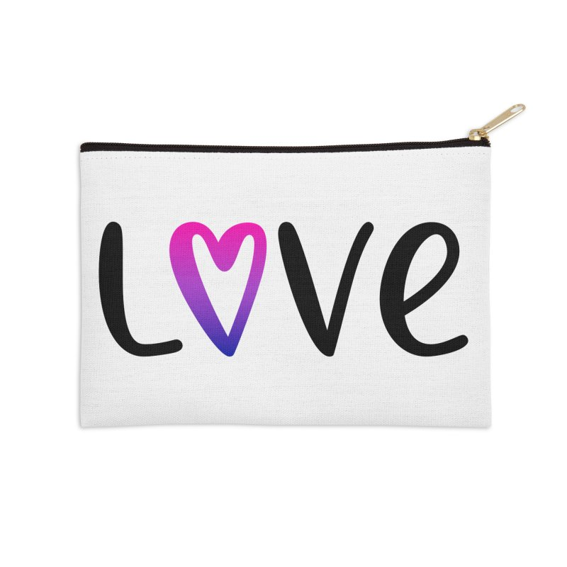 Love + Heart Accessories Zip Pouch by Prismheartstudio 's Artist Shop