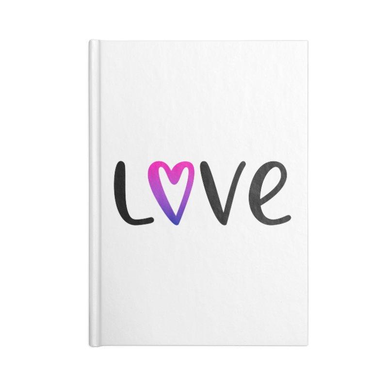 Love + Heart Accessories Notebook by Prismheartstudio 's Artist Shop