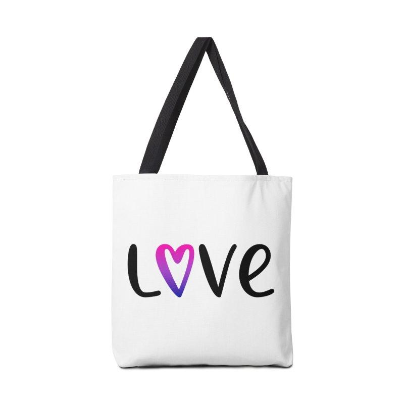 Love + Heart Accessories Bag by Prismheartstudio 's Artist Shop