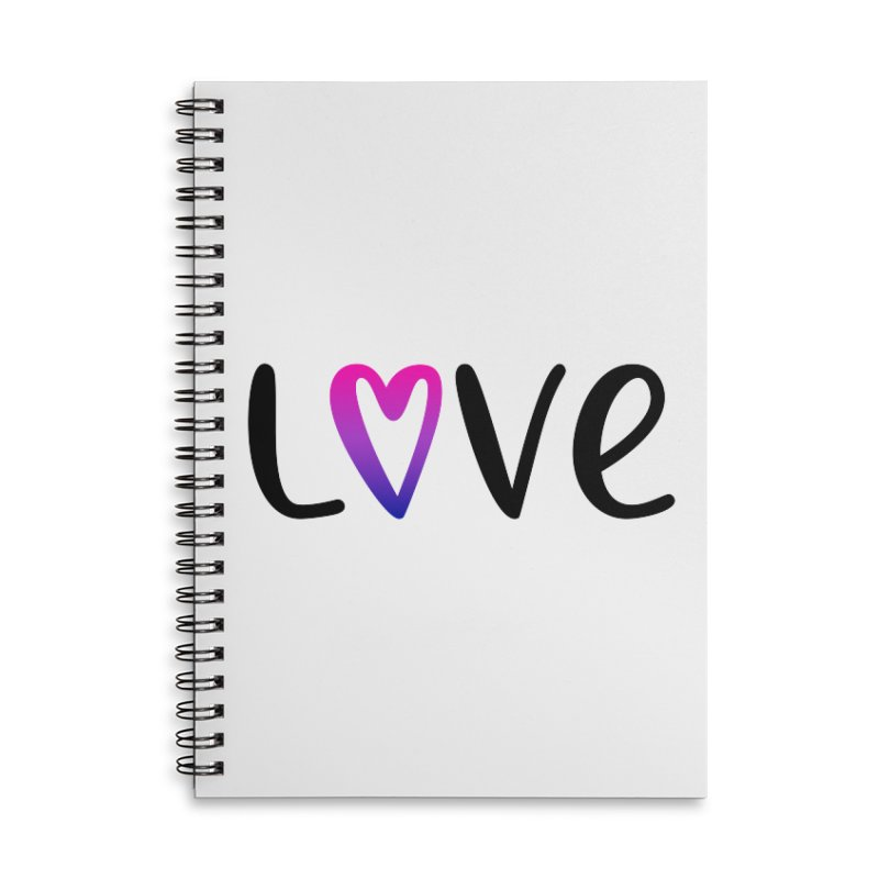 Love + Heart Accessories Lined Spiral Notebook by Prismheartstudio 's Artist Shop