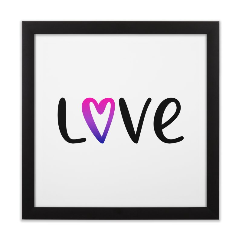 Love + Heart Home Framed Fine Art Print by Prismheartstudio 's Artist Shop