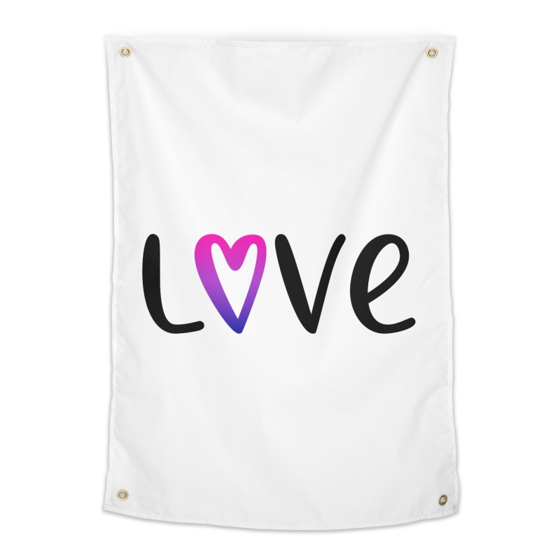Love + Heart Home Tapestry by Prismheartstudio 's Artist Shop