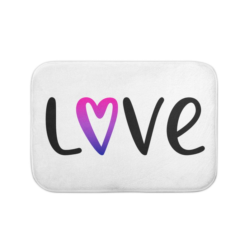 Love + Heart Home Bath Mat by Prismheartstudio 's Artist Shop