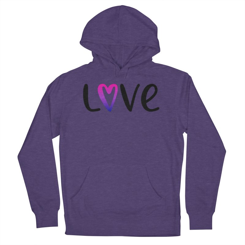 Love + Heart Women's French Terry Pullover Hoody by Prismheartstudio 's Artist Shop