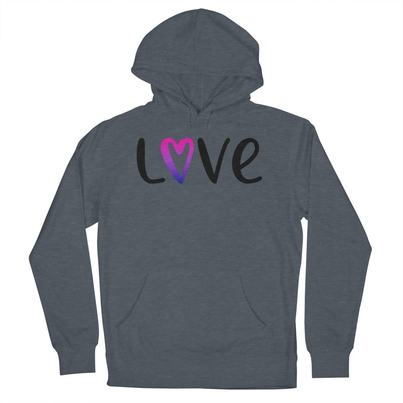 Love + Heart Men's Pullover Hoody by Prismheartstudio 's Artist Shop