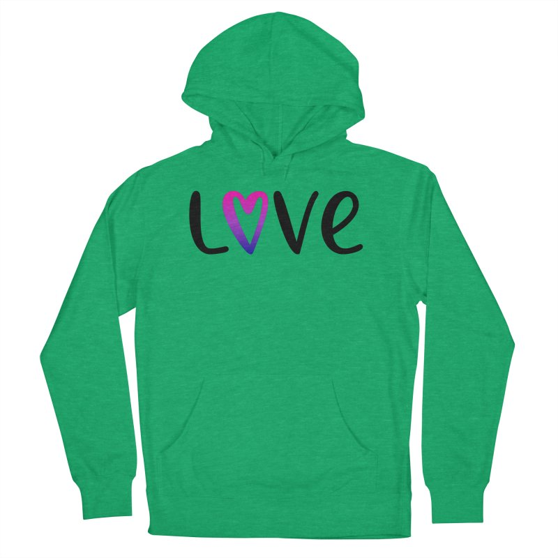 Love + Heart Men's French Terry Pullover Hoody by Prismheartstudio 's Artist Shop