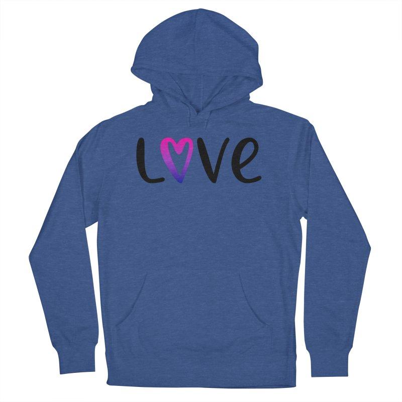Love + Heart Men's Pullover Hoody by Prismheartstudio 's Artist Shop