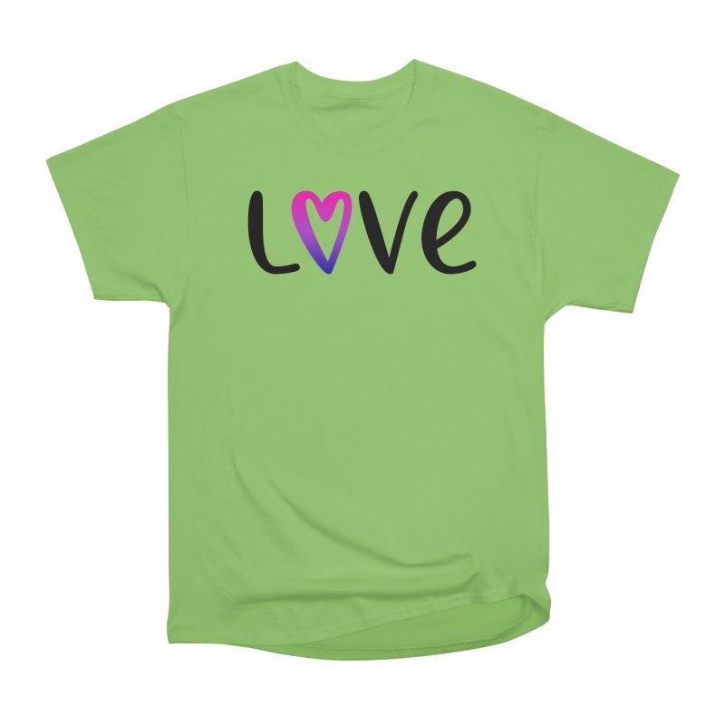 Love + Heart Women's Heavyweight Unisex T-Shirt by Prismheartstudio 's Artist Shop