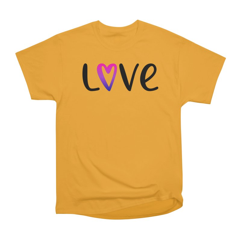 Love + Heart Men's Heavyweight T-Shirt by Prismheartstudio 's Artist Shop