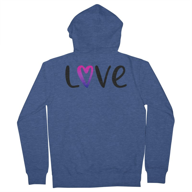 Love + Heart Women's French Terry Zip-Up Hoody by Prismheartstudio 's Artist Shop
