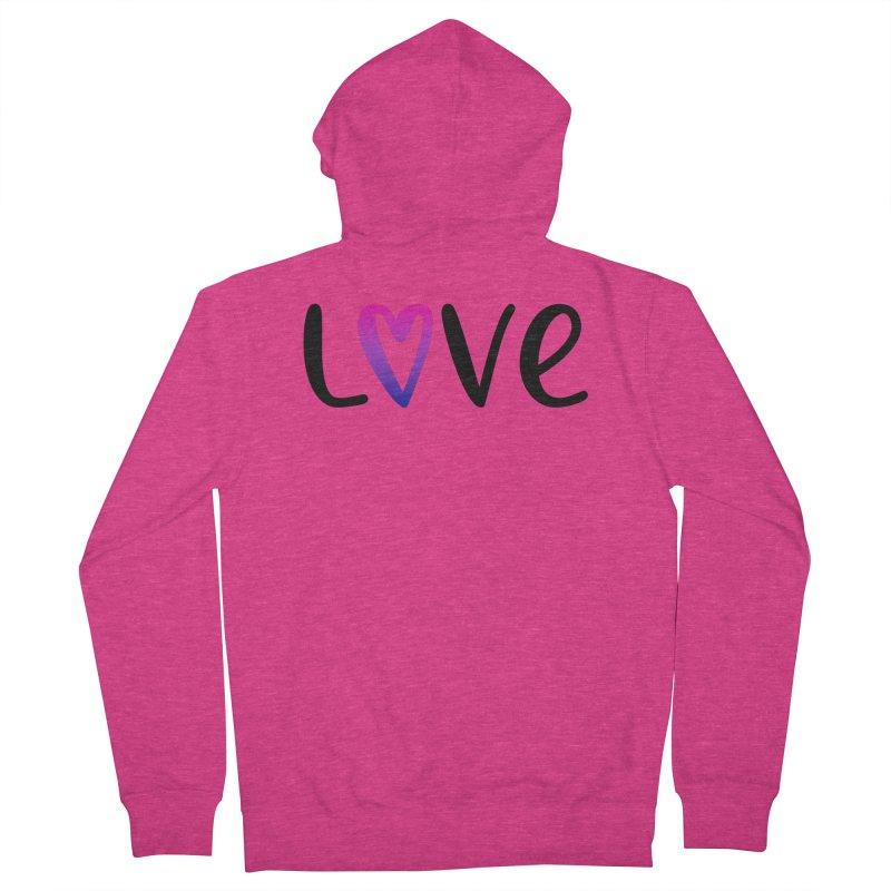 Love + Heart Women's French Terry Zip-Up Hoody by Prismheartstudio 's Artist Shop